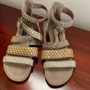 Shoes - Womens sandals by Steven studded suede 10M VGC